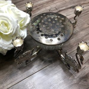Silver Plated Swan Center Piece